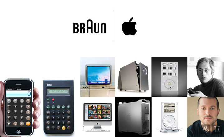 Iconic designs by Braun and Apple